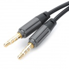 Retractable Spring 4-Conductor TRRS 3.5mm Audio M-M Cable-Black(1.42m)