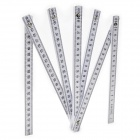 200cm 10-Section Folding Wood Engineering Drawing / Measuring Ruler - White + Black