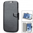 Protective PU Leather + TPU Case for Samsung Galaxy S4 i9500 - Black