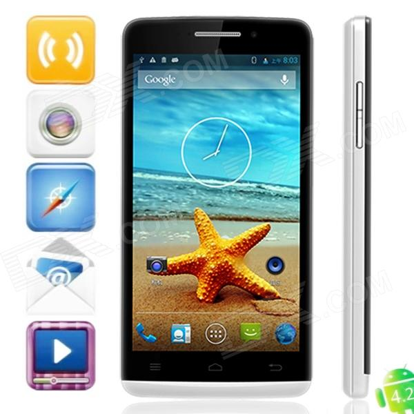 "Bedove HY5001 androïde 4.2.1 quad-Core Smart Phone w / 5.0 ""Capacitive Screen, Wi-Fi et GPS-Blanc"