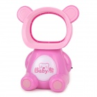 Cute Bear Form elektronischer Non-Blade USB Fan - Pink (2 x AA)