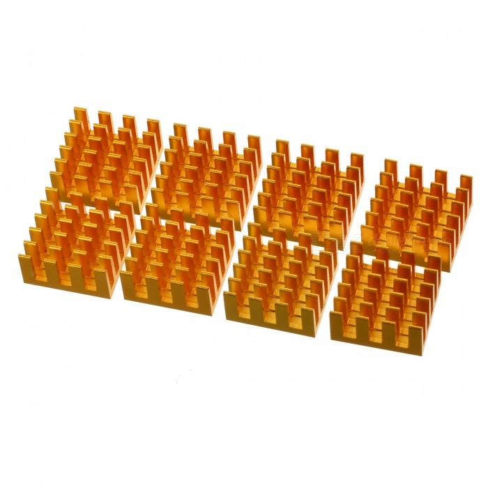 AVE X3 liga de alumínio Ram Heat Sinks - Golden (8 PCS)