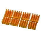 AVE X3 Aluminum Alloy Ram Heat Sinks - Golden (8 PCS)