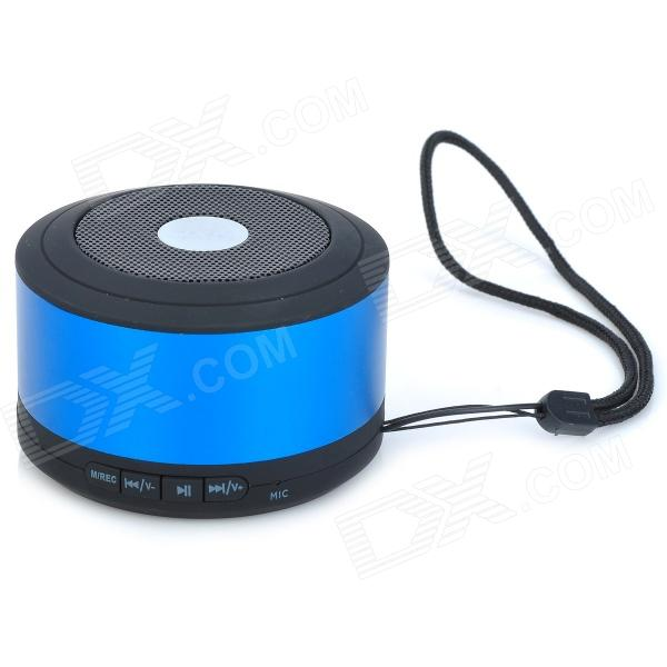 JXD X16 Multifunction Portable Bluetooth 2.1 Speaker w/ TF / FM / Microphone - Blue + Black от DX.com INT