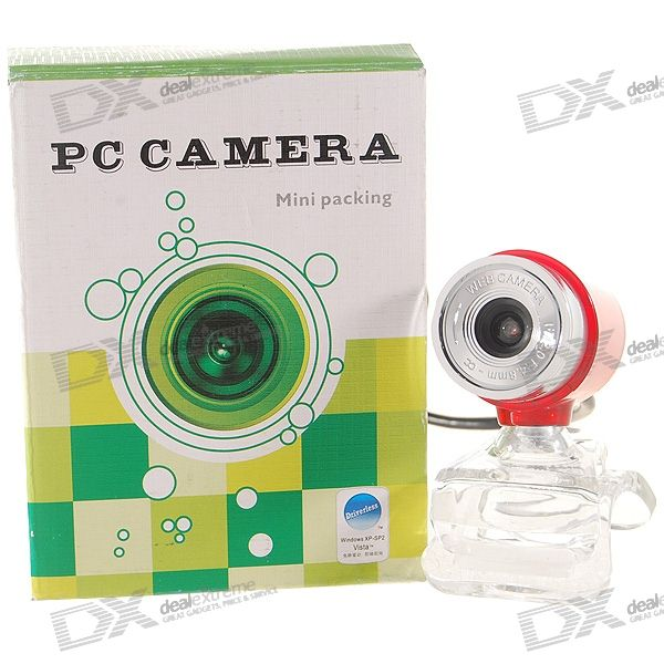 Clip-On 1.3MP PC USB 2.0 Webcam (Driver-Free)