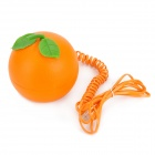 XingLi 889A3 Creative Orange Shaped Wired Telephone - Orange + Green
