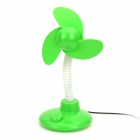 KT218 Mini USB 2.0 3-Blade Desk Fan - Green + White