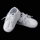 PU Leather Shoes for Baby 6~9 Months - White (Pair)