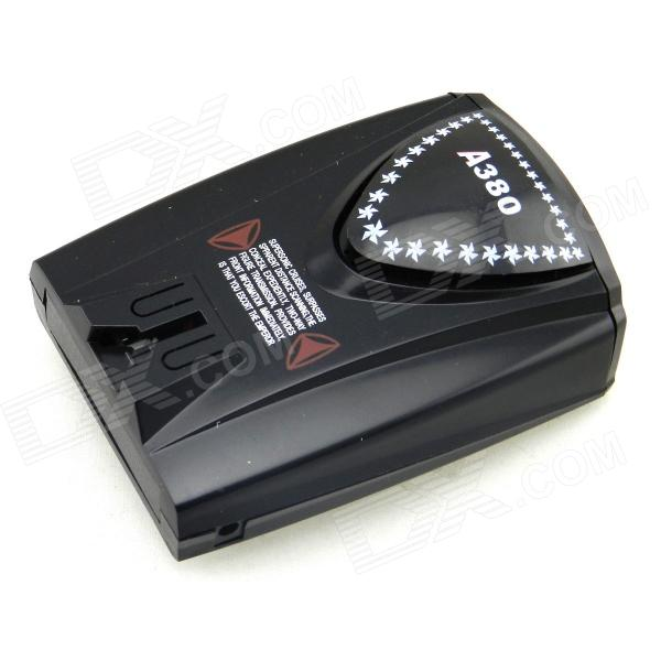 A380 GPS Navigator Car Radar Laser Detectors w/ English Voice - Black от DX.com INT