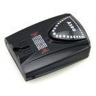 A380 GPS Navigator Car Radar Laser Detectors w/ English Voice - Black