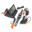 "2.4GHz 4.3"" LCD Car Stand Security Monitor + Rear-View Camera w/ 7-IR LED Kit - Black"