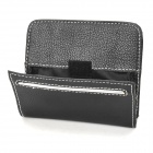 P3106 Vehicle Hanging Type PU Bag w/ Self-Adhesive Tape for Cell Phone - Black