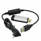 F16 Linux Langaton DLNA HDMI-media jakaminen Wi-Fi-TV Dongle Ipad / Android - Silver + musta