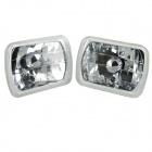 "7"" 55W 6000K 90lm H4 Halogen Light Bulb Car Fog Lamp (Transparent Lens / Pair / 12V)"
