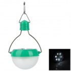 10010027 Portable 42lm 6000K 7-LED White Light Road / Camping Lamp w/ Solar Panel - Green + Silver