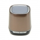 Mini Bluetooth V2.1+EDR Speaker w/ Microphone - Brown