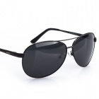 Reedoon 1310B Unisex Polarized UV400 Protection Resin Lens Sunglasses - Dark Grey + Grey