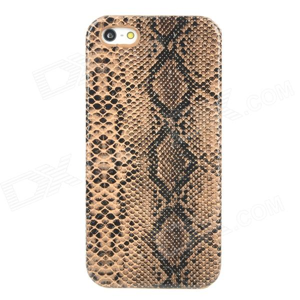 Stylish Snakeskin Pattern Plastic Back Case for Iphone 5 - Brown stylish snakeskin pattern plastic back case for iphone 5 brown