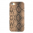 Stylish Snakeskin Pattern Plastic Back Case for Iphone 5 - Brown