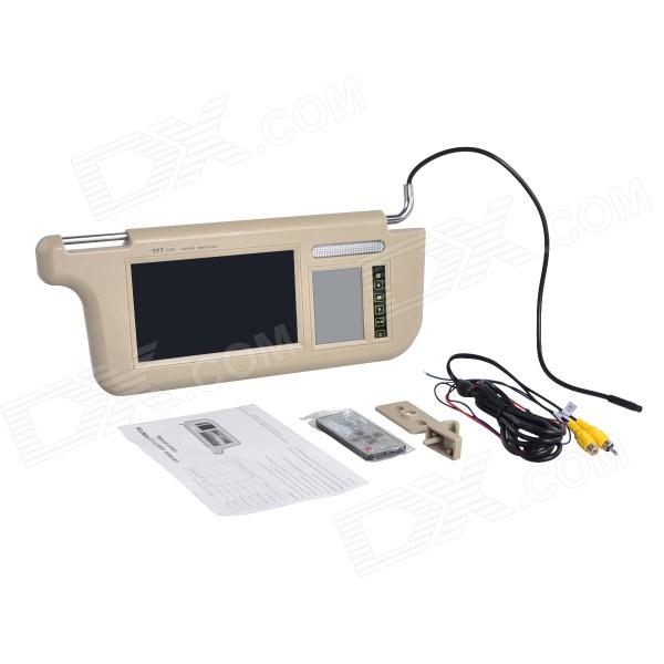 7 LCD Car Zonneklep Monitor w - Remote Controller - Beige