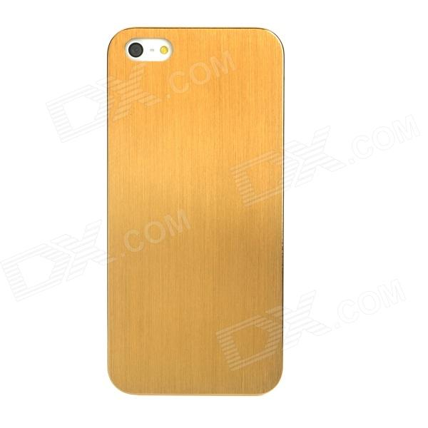 Unique Brushed Metal Titanium Alloy Back Case for Iphone 5 - Golden