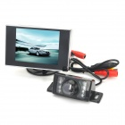 "Car 3.5 ""LCD Monitor + Rückfahrkamera Wireless 2.4GHz CMOS Kamera w / 7-LED Night Vision - Schwarz"