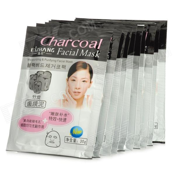 Apple Vinegar Essence Moisturizing & Purifying Facial Mask - Black (10 PCS)