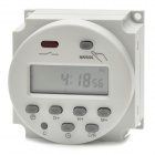 "1.6"" LCD Panel Mounted Digital Electronic Programmable Timer Switch - White + Deep Grey (AC 220V)"