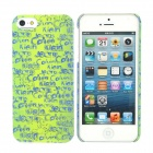Kamol Protective Plastic Back Case for iPhone 5 - Yellow Green