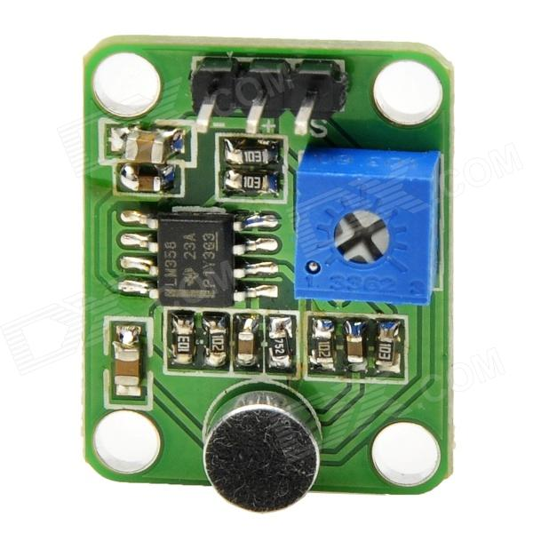 MF DIY Sound Sensor Activated Module for Funduino - Green + Black (DC 5V)