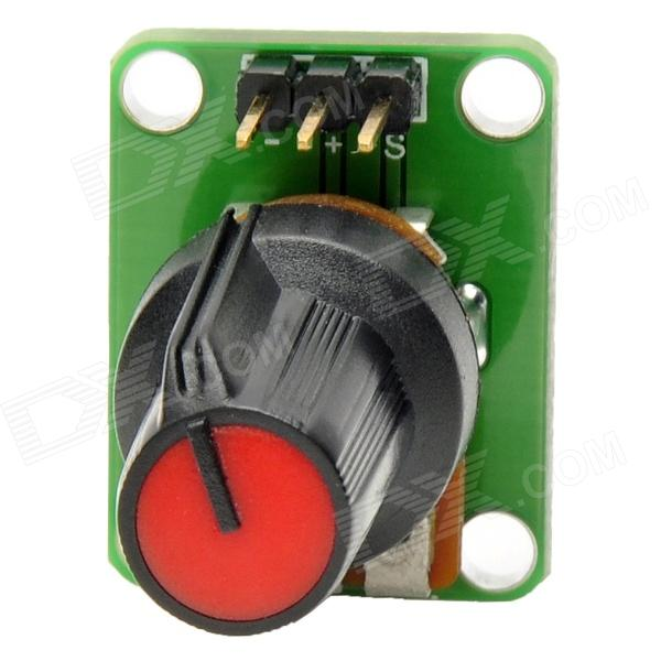 MF DIY 10k ohm Rotary Potentiometer Module for Funduino - Black + Green + Red (DC 5V)