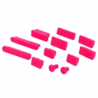 Ultra-Thin Silicone Anti-Dust Cover Set for Apple 11.6 / 13.3 / 15.4 Laptops - Deep Pink