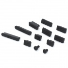 Silicone Anti-Dust Cover Set for Laptopsfor Apple Laptops- Black