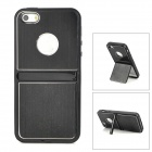 Creative Two-way Stand Plastic Back Case for Iphone 5 - Black