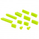 Ultra-Thin Silicone Anti-Dust Cover Set for Apple 11.6 / 13.3 / 15.4 Laptops - Yellow Green