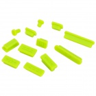 Ultra-Thin Silicone Anti-Dust Cover Set para a Apple 11.6 / 13.3 / 15.4 Laptops - Amarelo Verde