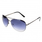 9031-C1 UV400 Protection Manganese-Nickel Alloys Frame Resin Lens Aviator Sunglasses - Black