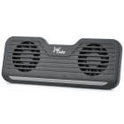 "JUSTCOOLER NB-909 Compact Dual-Fans Cooling Pad für 10 ""~ 15"" Notebook / Laptops - Schwarz"