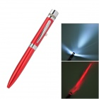 White Light LED Flashlight + 5mW 650nm Red Laser Pen - Red
