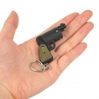 WLE2236 Gun Style LED Red Light Keychain - Black (3 x AG3)
