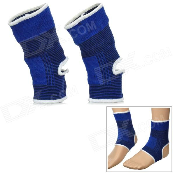 PENGYUE 6664 Outdoor Bicycling Sport Knitting Ankle Support - Deep Blue (Pair)