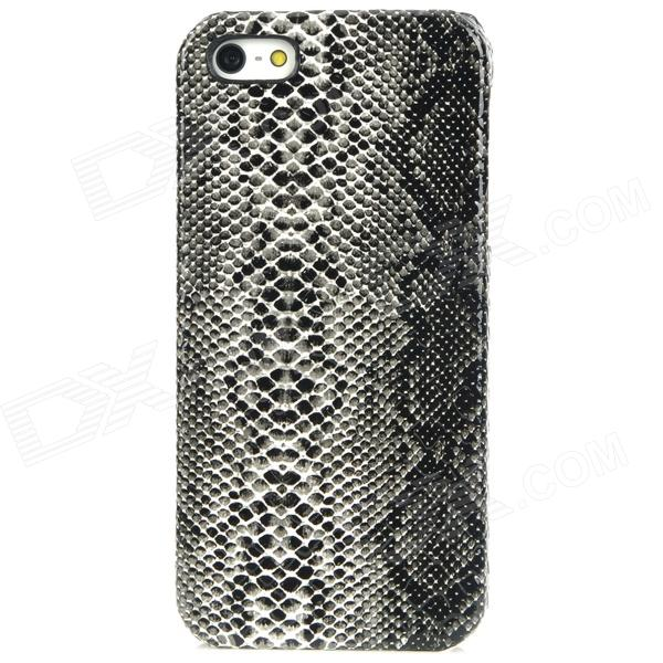 Stylish Snakeskin Pattern Plastic Back Case for Iphone 5 - Black stylish snakeskin pattern plastic back case for iphone 5 brown