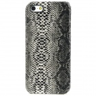 Stylish Snakeskin Pattern Plastic Back Case for Iphone 5 - Black