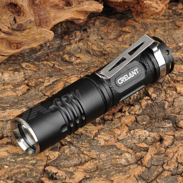 CRELANT V31A Mini 450lm 3-Mode White Flashlight w/ Cree XM-L U2 - Black (1 x CR123A / 16340 )