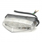 KLT-MW201 Motorcycle 0.6W 35lm 4500K 10-LED Warm White Signal Tail Light - Black + Silver