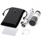 Aluminum Alloy 12X Optical Zoom Telescope Lens Set for Nokia Lumia 920 - Black + Silver