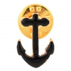 Anchor Style Fashionable Zinc Alloy Neck Decoration Collar Brooches - Golden (Pair)