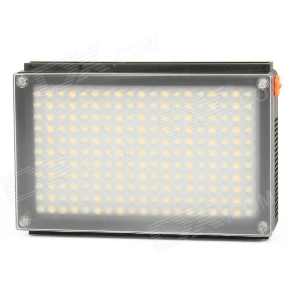 LED209AS 12.54W 209-LED Video Light - Black (Dual Color Temperature)