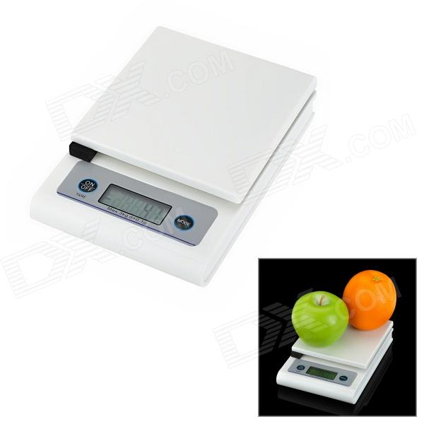 1.7'' LCD Electronic Household Kitchen Scale - White + Grey