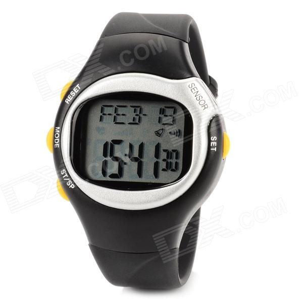 Multifunction Electronic Pulse / Heart Rate / Calorie Wrist Watch - Grey + Black